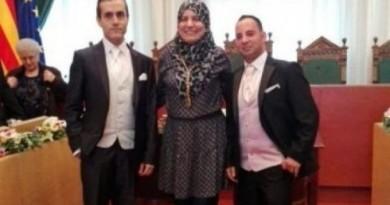 « Mariage » homosexuel célébré par une élue musulmane voilée