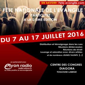 Radio Elyon, partenaire de la Fête Nationale de l'Evangile !
